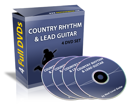 next level guitar country rhythm lead guitar four dvd instructional set. Black Bedroom Furniture Sets. Home Design Ideas
