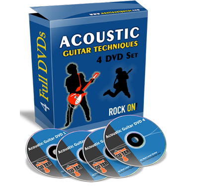 acoustic guitar techniques 4 dvd set. Black Bedroom Furniture Sets. Home Design Ideas